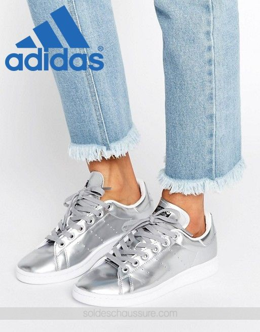 Les Adidas Originals Stan Smith Argent métallisé ☆ [Basket ...